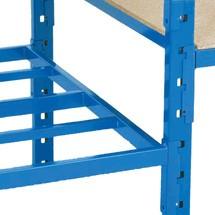 Balda para estantería de cargas pequeñas con suelo de tubo de acero