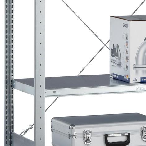 Balda para estantería de cargas pequeñas META con sistema atornillado, carga por estante 100 kg y galvanizada