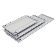 Balda para estantería de cargas pequeñas META sistema de encajado y carga por estante de 150 kg, gris claro