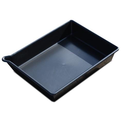 Bancontenedor pequeña fabricada en PE, color negro