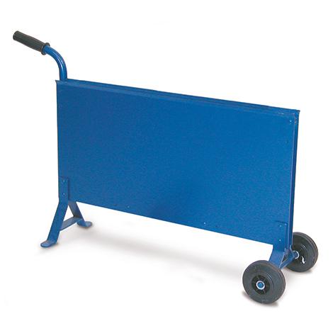 Bandabrollwagen schmal für Stahlband. Blau