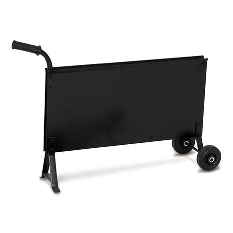 Bandabrollwagen schmal für Stahlband. Schwarz