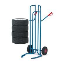 Bandensteekwagen fetra® van buizenstaal voor 8 banden. Capaciteit 200 kg