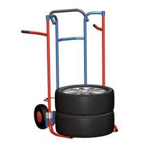 Bandensteekwagen van buizenstaal voor 8 banden. Capaciteit 240kg