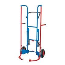 Bandensteekwagen VARIOfit® met steunwielen, staalb., 200kg, voor 8 banden
