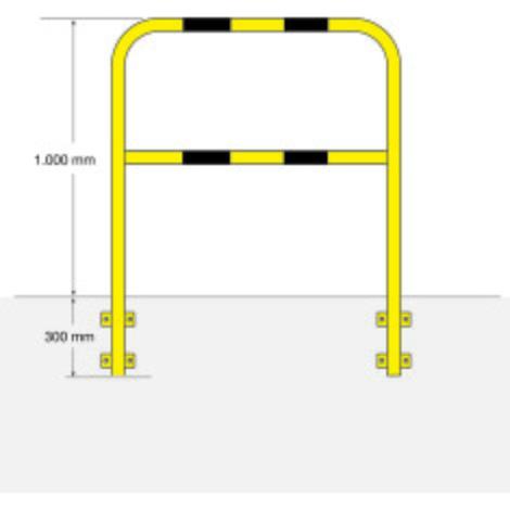 Barra de proteção, exterior, fixação lateral