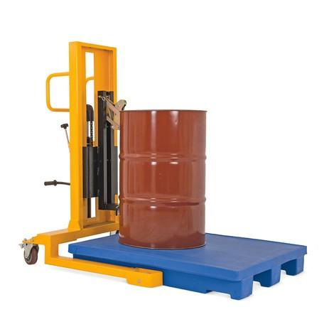 Barrel lifter, foot pedal operation