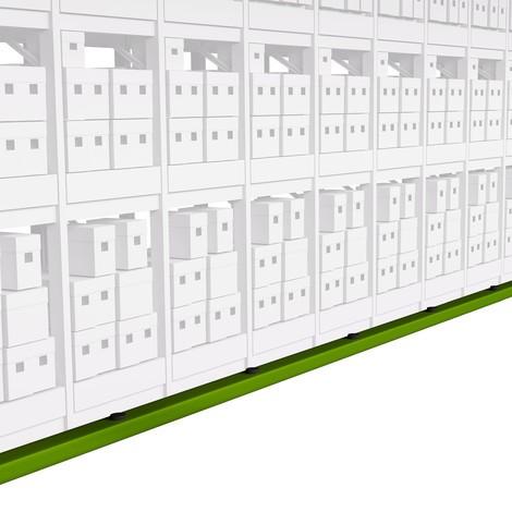 Barriera a pavimento di protezione contro le collisioni, fluorescente