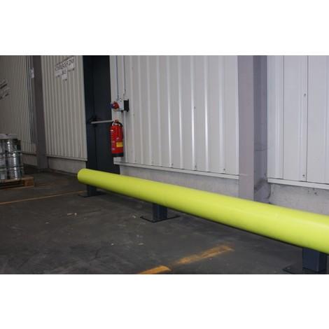 Barriera di protezione contro le collisioni in materiale plastico, fluorescente