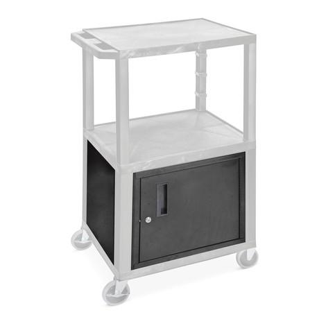 Base cabinet for plastic transport trolley