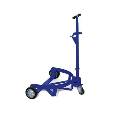 Base con ruote per fusti con barra di leva e traino