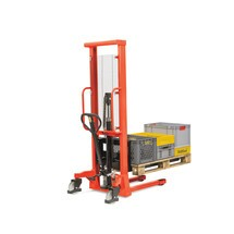 BASIC hydraulic stacker truck with single mast