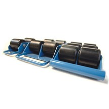 BASIC machine moving dolly skate, transport rollers