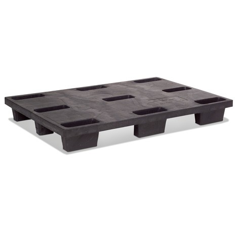 BASIC plastic pallet, static capacity 4000 kg, LxW 1200 x 800 mm
