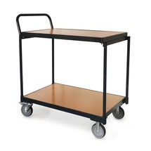 BASIC Tischwagen, hochstehender Bügel, 2 Etagen, TK 250 kg