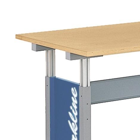 Basistafel werkpleksysteem, hoogteverstelling met kruk