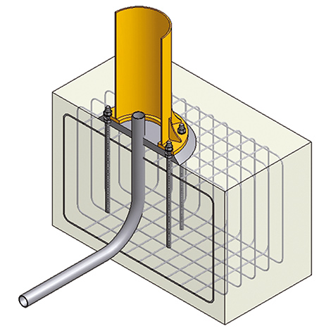 Befestigungsmaterial für Fundament für Schwenkkran
