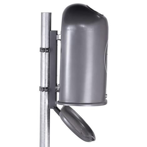 Befestigungspfosten für Stahlblech-Abfallbehälter