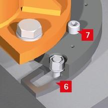 Befestigungssystem für Säulen- und Wandschwenkkrane