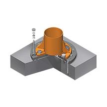 Befestigungssystem zum Aufdübeln für stationäre Säulen- und Wandschwenkkrane, Tragkraft bis 2000 kg