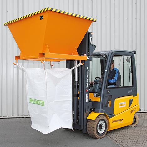 Befülltrichter für Transportsäcke Big Bag. Standausführung