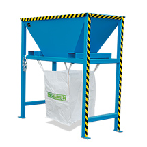 Befülltrichter für Transportsäcke Big Bag. Staplerführung