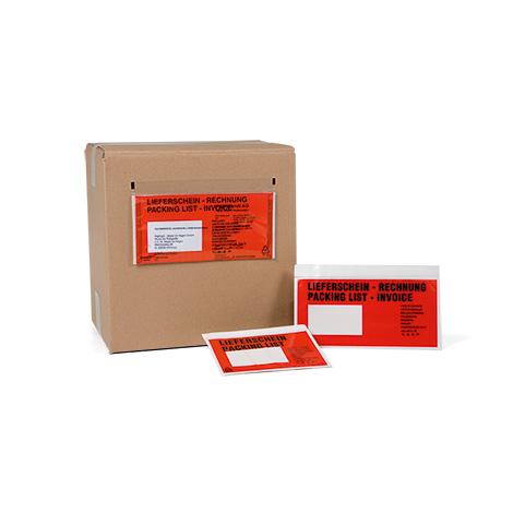 Begleitpapiertaschen DIN C5, bedruckt oder ohne Aufdruck