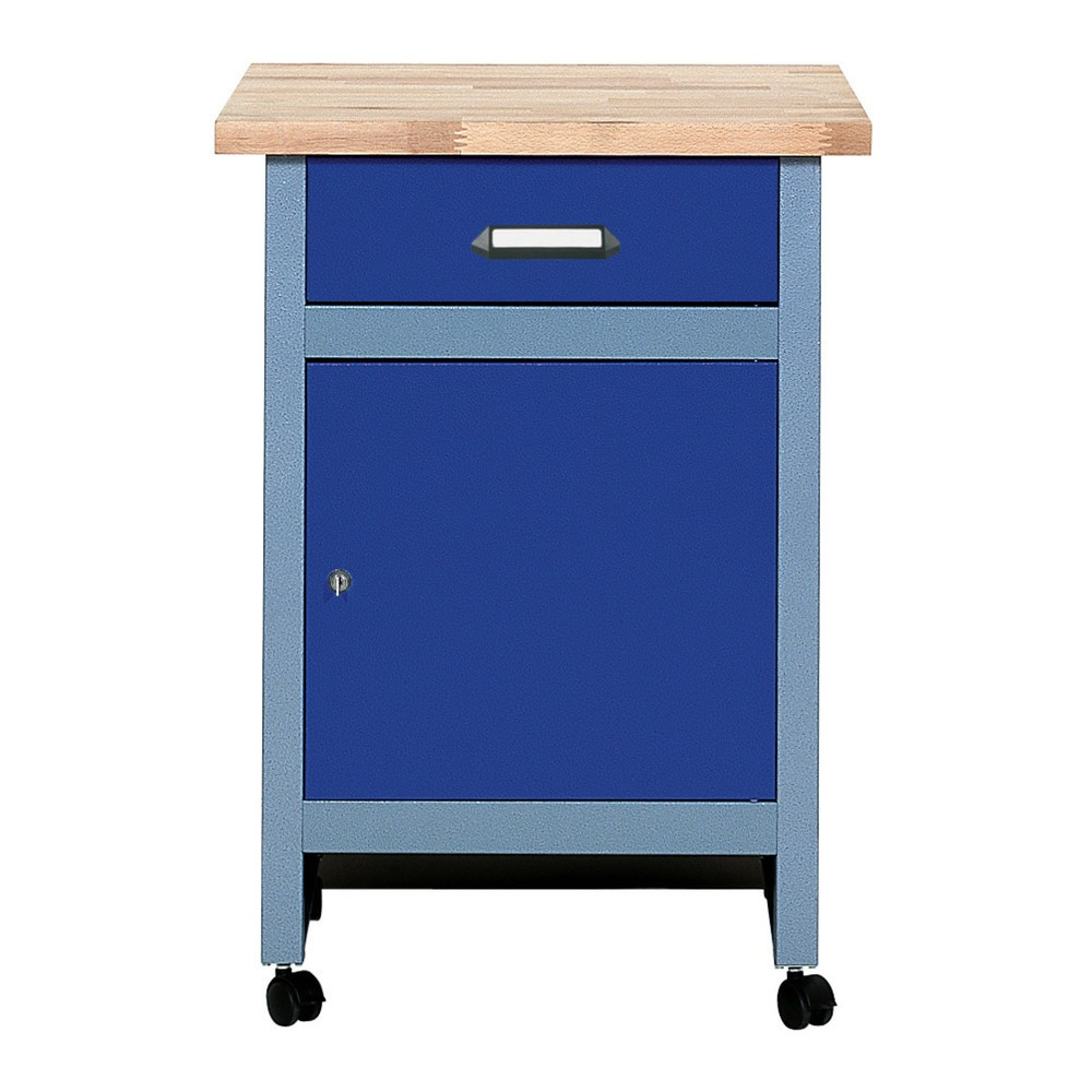 Beistelltisch für Werkbank mit 1 Schublade + 1 Tür