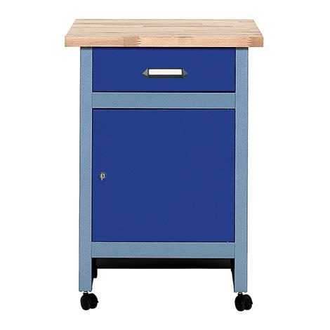 Beistelltisch für Werkbank mit 1 Schublade + 1 Tür. Breite 600 mm