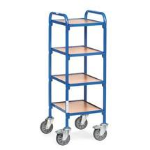 Beistellwagen fetra® für Sichtlagerkästen, mit Bodenplatten