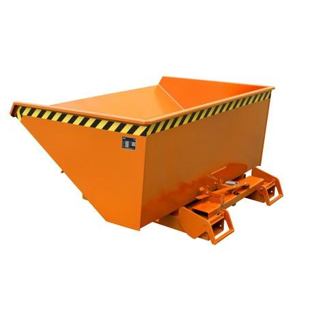 Benne basculante à mécanisme automatique anti-chute, capacité de charge 1000kg, peinte, volume 0,9 m³