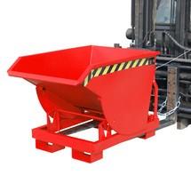 Benne basculante avec mécanisme d'aide au basculement Premium, construction profonde, peint, sans couvercle, volume 0,3 m³