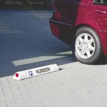 Beschriftung 'KFZ-Kennzeichen nach Wunsch' für Leitbalken
