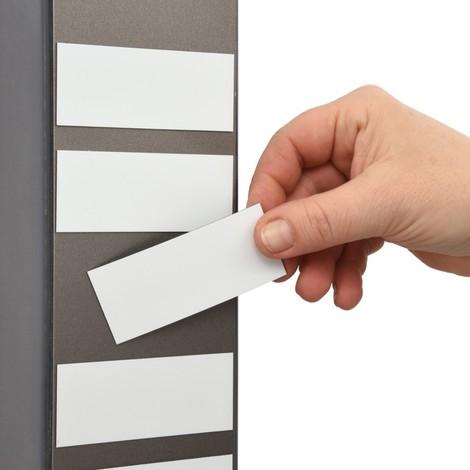 Beschrijfbare magneetplaatjes voor kaartensorteerbord