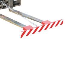 Beskyttelsesskærm til gaffeltrucktænder