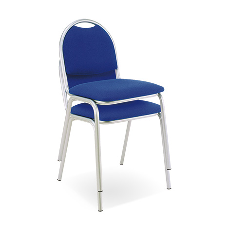 Besucherstuhl Office 10..Gestell alusilber. 2 Sitzpolsterfarben zur Auswahl