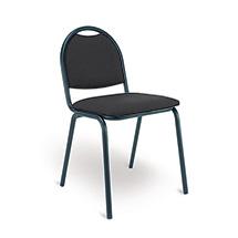 Besucherstuhl Office 20. Schwarzes Gestell. 2 Sitzpolsterfarben zur Auswahl