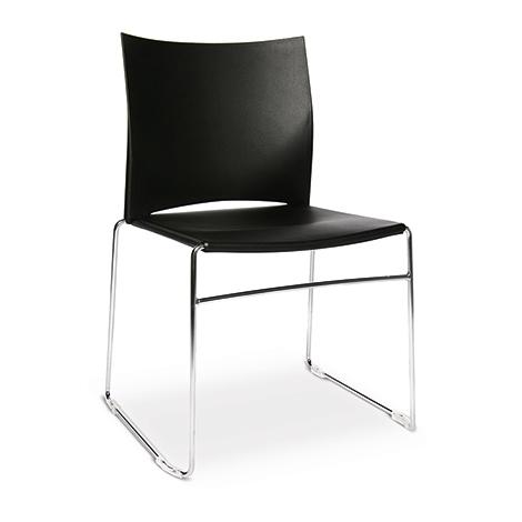 Besucherstuhl W-Chair mit Stahlkufengestell