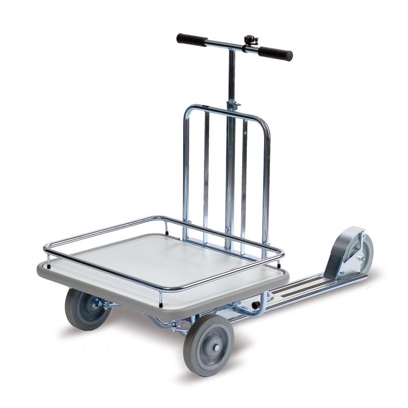Betriebs-Tretroller mit Transportfläche + Vollgummiräder