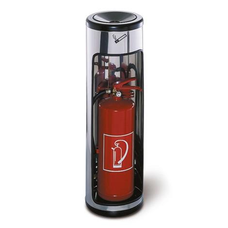 Bezpečnostní stojící popelník s nastavením hasicího přístroje