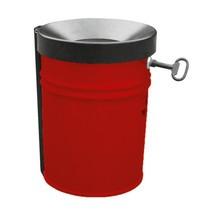 Bezpieczny kosz na odpadki papierowe z zabezpieczeniem przed płomieniami