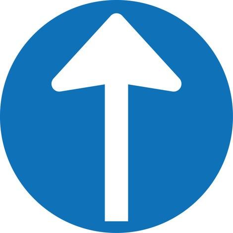Biedingsbord 'Directionele pijl', Set van 4