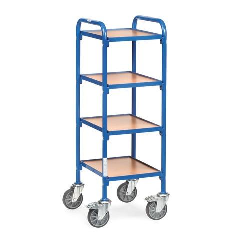 Bijzetwagen fetra® voor magazijnbakken, met bodemplaten
