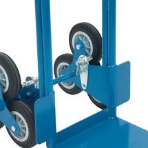 Blocage des roues en étoile pour diable d'escalier fetra® en aluminium