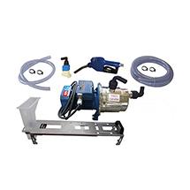 Bluematic maxi Typ E mit Halter für 200 l Fässer, mit Zähler, mit PVC-Pistole