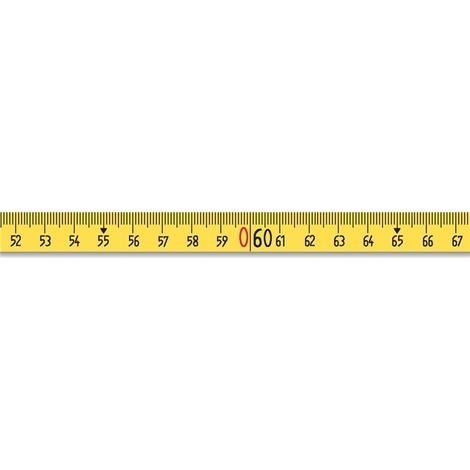 BMI Rahmenbandmaß ERGOLINE, Aluminium, gelb, Stahlmaßband BMI