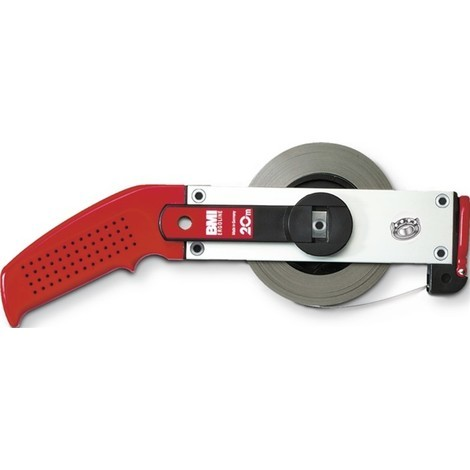 BMI Rahmenbandmaß ERGOLINE, Aluminium, weiß, Stahlmaßband BMI