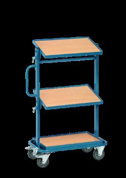 Montagewagen mit verstellbaren Ablageflächen