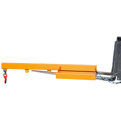 Teleskoplader mit ausziehbarem Kranarm