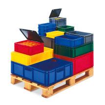 Euro-Stapelbehälter in unterschiedlichen Farben